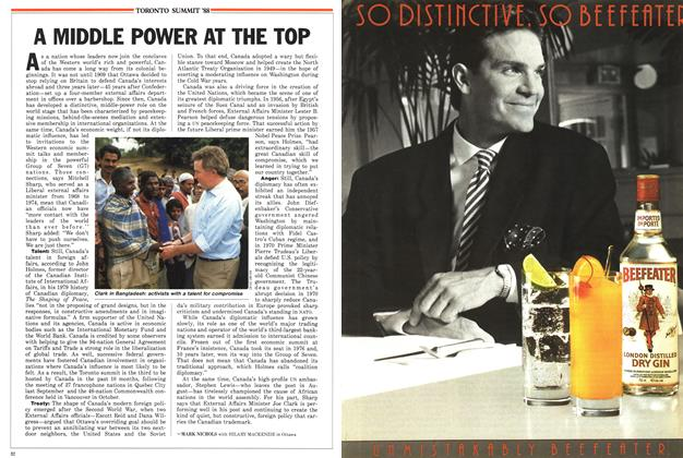 Article Preview: A MIDDLE POWER AT THE TOP, June 1988   Maclean's