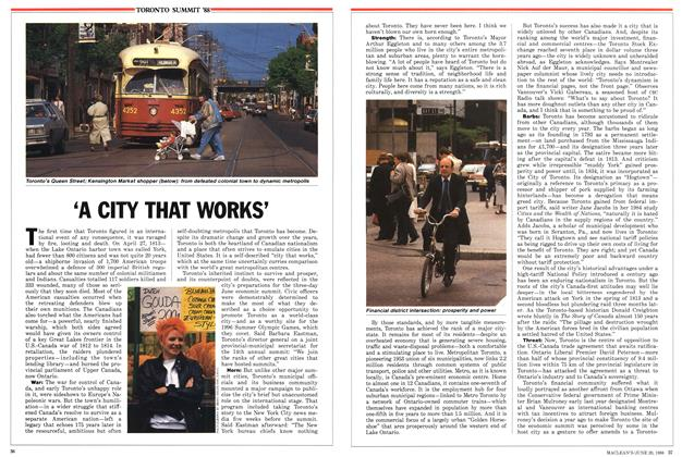 Article Preview: 'A CITY THAT WORKS', June 1988 | Maclean's