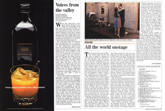 Article Preview: All the world onstage, June 1988 | Maclean's