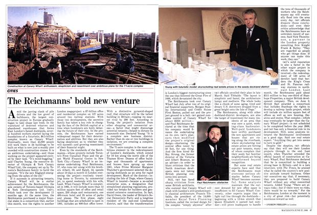 Article Preview: The Reichmanns' bold new venture, June 1988 | Maclean's