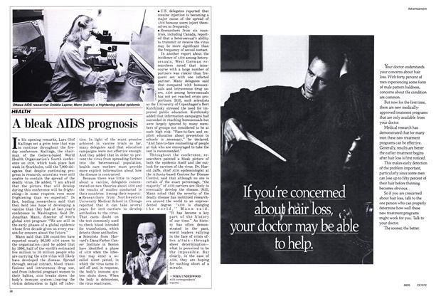 Article Preview: A bleak AIDS prognosis, June 1988 | Maclean's