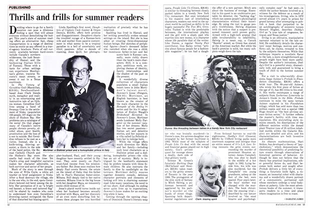 Article Preview: Thrills and frills for summer readers, June 1988 | Maclean's