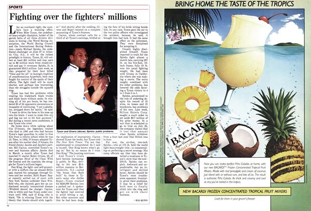 Article Preview: Fighting over the fighters' millions, June 1988 | Maclean's