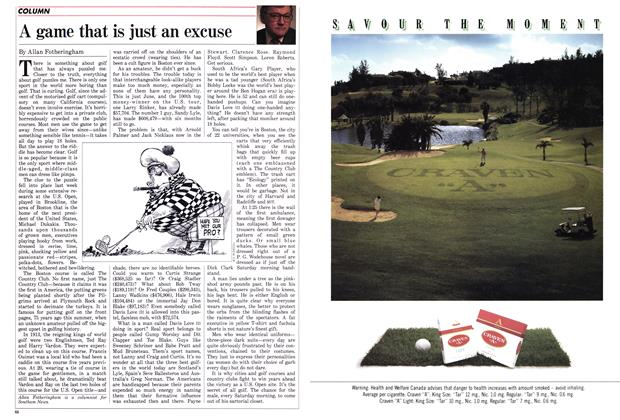Article Preview: A game that is just an excuse, June 1988 | Maclean's