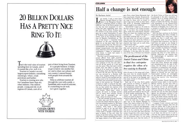 Article Preview: Half a change is not enough, June 1988 | Maclean's