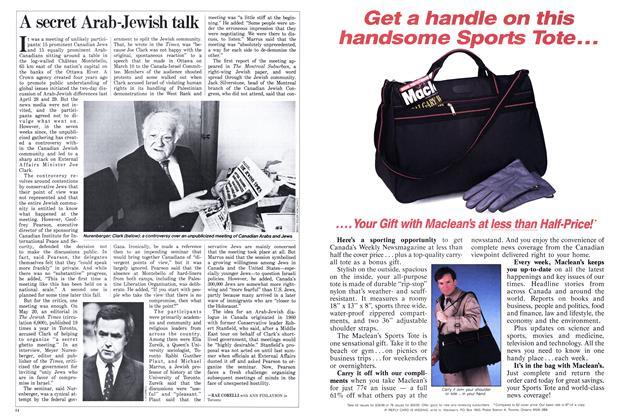 Article Preview: A secret Arab-Jewish talk, June 1988   Maclean's