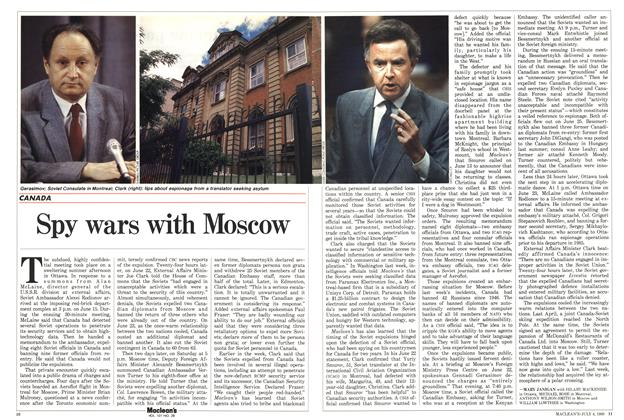 Article Preview: Spy wars with Moscow, July 1988 | Maclean's