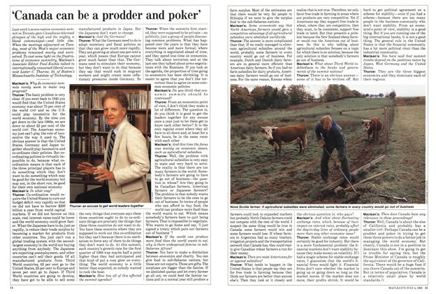 Article Preview: 'Canada can be a prodder and poker', July 1988 | Maclean's