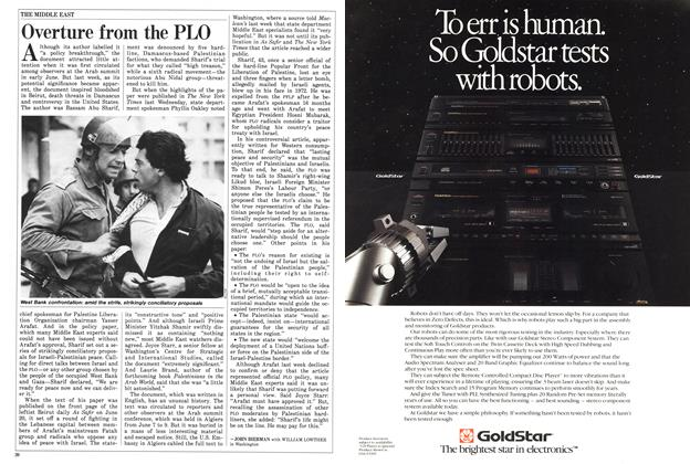 Article Preview: Overture from the PLO, July 1988 | Maclean's