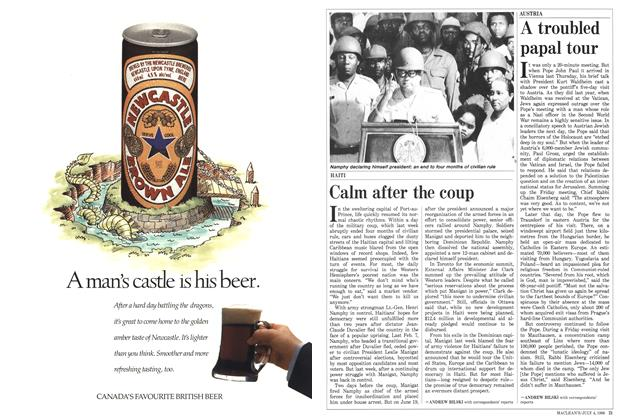 Article Preview: Calm after the coup, July 1988 | Maclean's