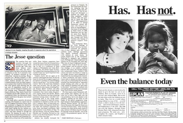 Article Preview: The Jesse question, July 1988 | Maclean's
