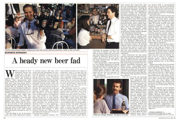 Article Preview: A heady new beer fad, July 1988 | Maclean's