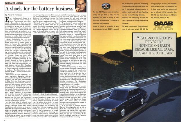 Article Preview: A shock for the battery business, July 1988 | Maclean's