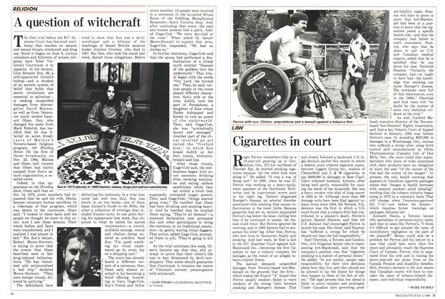 Article Preview: A question of witchcraft, July 1988 | Maclean's