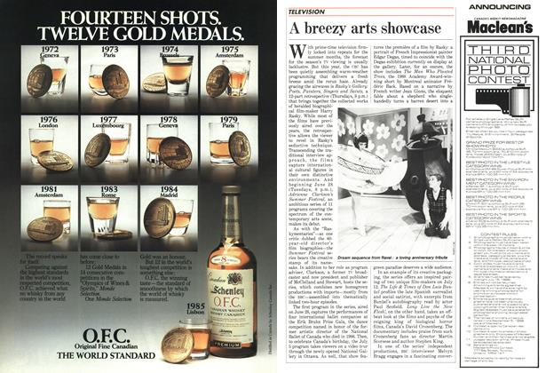Article Preview: A breezy arts showcase, July 1988 | Maclean's