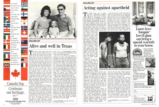 Article Preview: Alive and well in Texas, July 1988   Maclean's