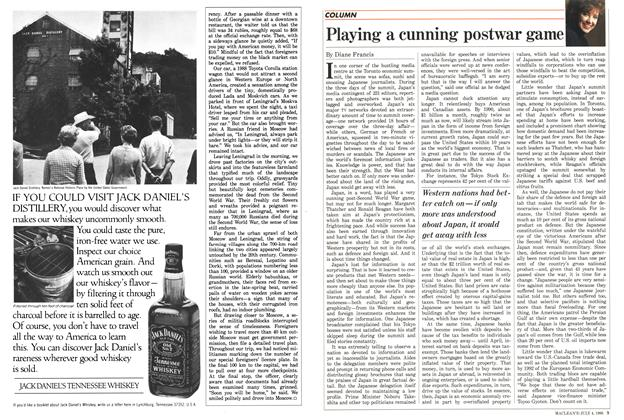 Article Preview: Playing a cunning postwar game, July 1988 | Maclean's