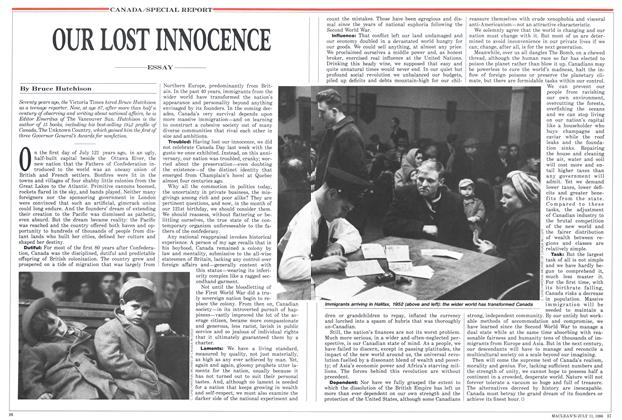Article Preview: OUR LOST INNOCENCE, July 1988 | Maclean's