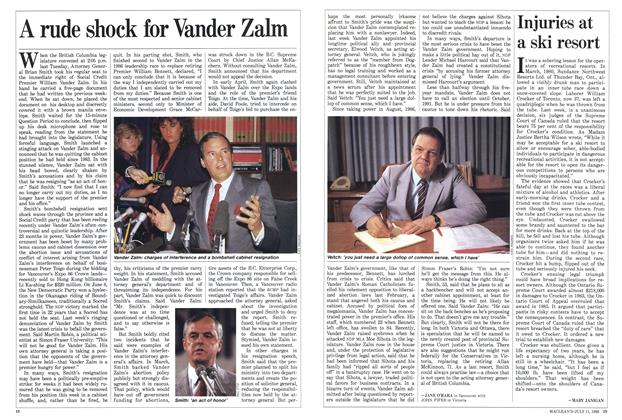 Article Preview: A rude shock for Vander Zalm, July 1988 | Maclean's