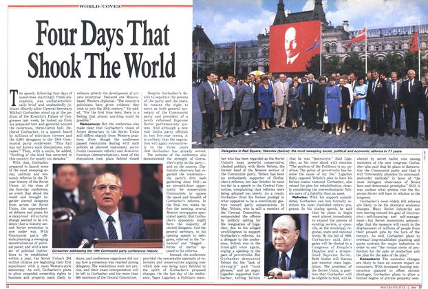 Article Preview: Four Days That Shook The World, July 1988 | Maclean's