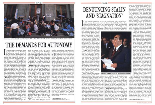 Article Preview: DENOUNCING STALIN AND 'STAGNATION', July 1988 | Maclean's