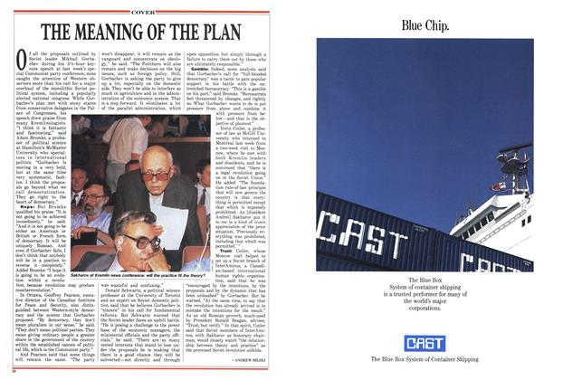 Article Preview: THE MEANING OF THE PLAN, July 1988 | Maclean's