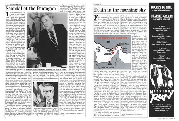Article Preview: Death in the morning sky, July 1988 | Maclean's