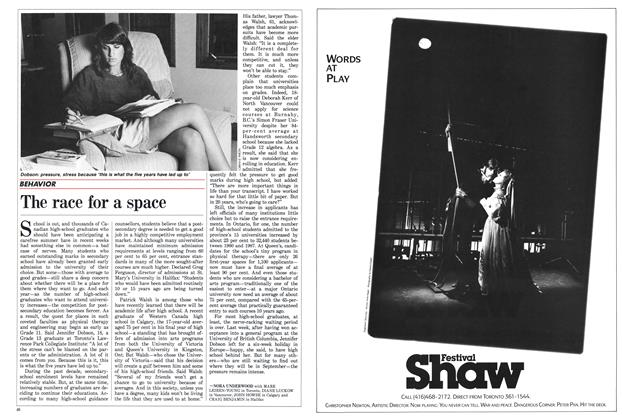 Article Preview: The race for a space, July 1988 | Maclean's