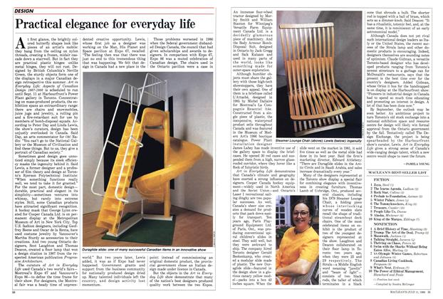 Article Preview: Practical elegance for everyday life, July 1988 | Maclean's