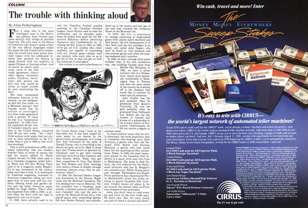 Article Preview: The trouble with thinking aloud, July 1988 | Maclean's