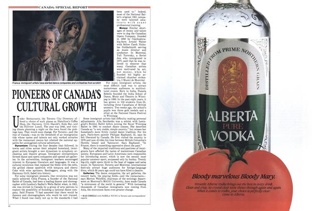 Article Preview: PIONEERS OF CANADA'S CULTURAL GROWTH, July 1988 | Maclean's