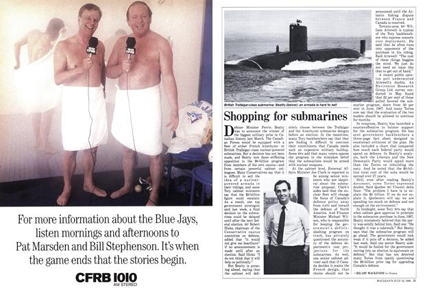 Article Preview: Shopping for submarines, July 1988 | Maclean's