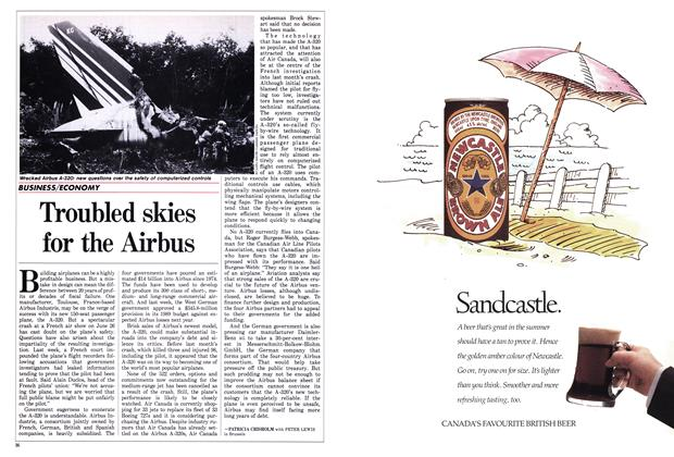 Article Preview: Troubled skies for the Airbus, July 1988 | Maclean's