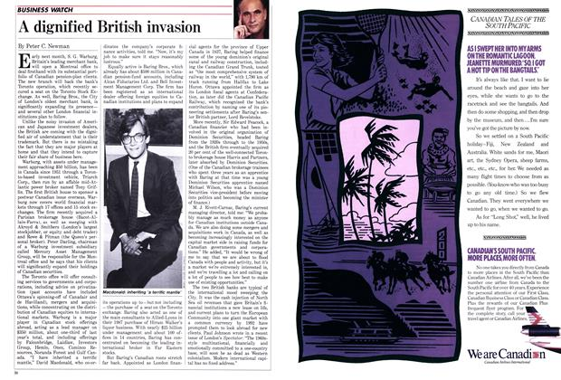 Article Preview: A dignified British invasion, July 1988 | Maclean's