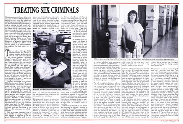 Article Preview: TREATING SEX CRIMINALS, July 1988 | Maclean's