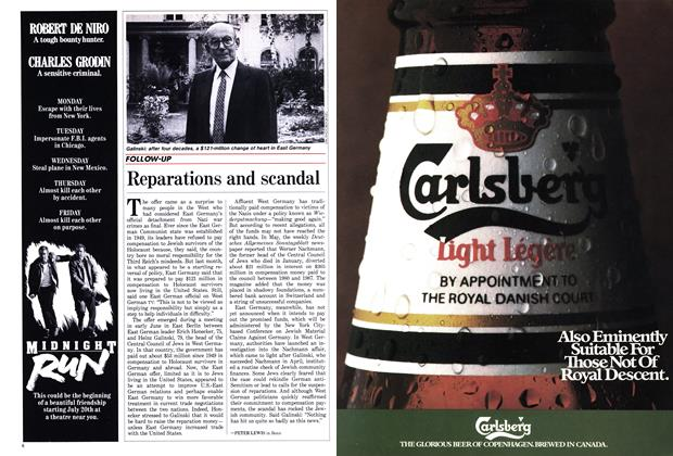 Article Preview: Reparations and scandal, July 1988   Maclean's