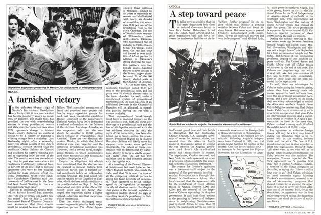 Article Preview: A tarnished victory, July 1988 | Maclean's