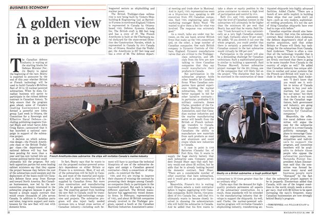 Article Preview: A golden view in a periscope, July 1988 | Maclean's