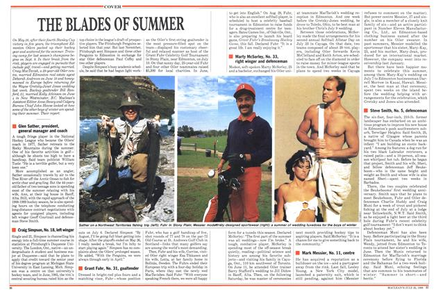 Article Preview: THE BLADES OF SUMMER, July 1988 | Maclean's