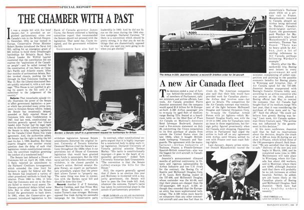 Article Preview: A new Air Canada fleet, August 1988 | Maclean's