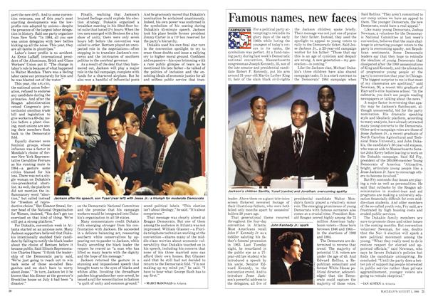 Article Preview: Famous names, new faces, August 1988 | Maclean's