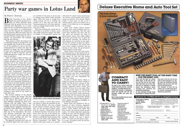 Article Preview: Party war games in Lotus Land, August 1988 | Maclean's