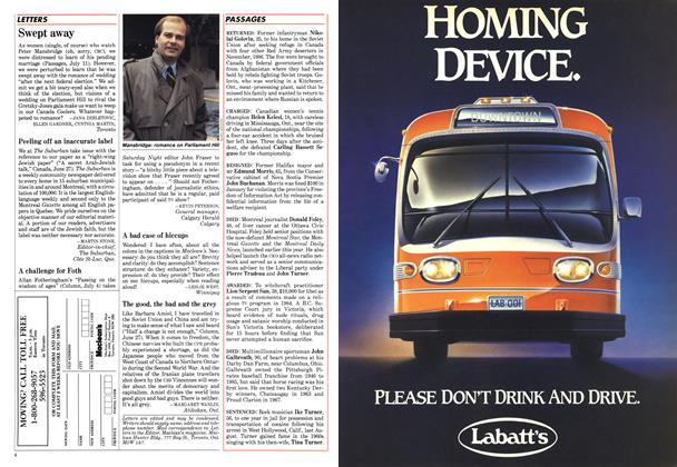 Article Preview: PASSAGES, August 1988 | Maclean's