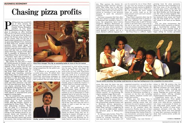Article Preview: Chasing pizza profits, August 1988 | Maclean's