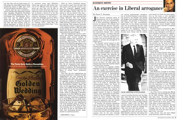 Article Preview: An exercise in Liberal arrogance, August 1988 | Maclean's