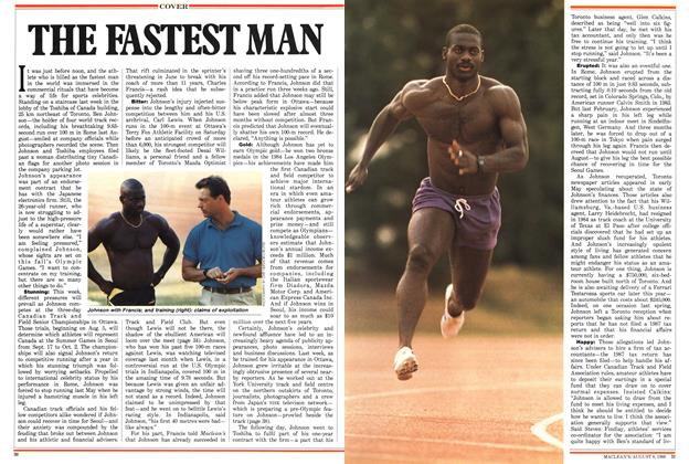 Article Preview: THE FASTEST MAN, August 1988 | Maclean's