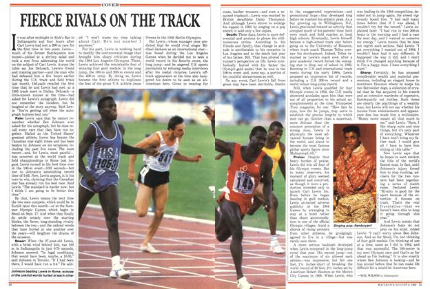 Article Preview: FIERCE RIVALS ON THE TRACK, August 1988 | Maclean's