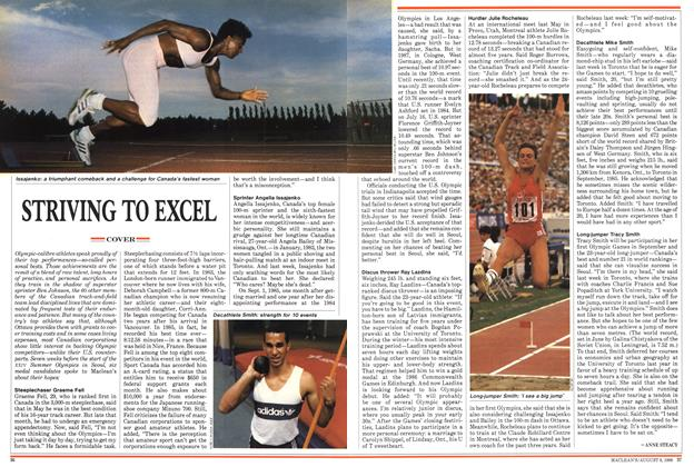 Article Preview: STRIVING TO EXCEL, August 1988 | Maclean's