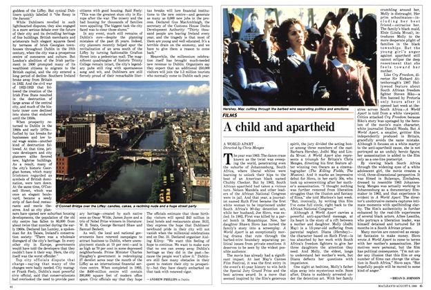 Article Preview: A child and apartheid, August 1988 | Maclean's