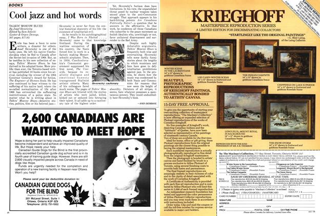 Article Preview: Cool jazz and hot words, August 1988 | Maclean's